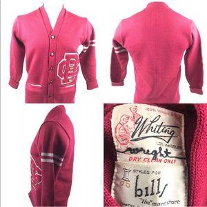 Vtg Whiting Los Angeles GB Football Wool Cardigan